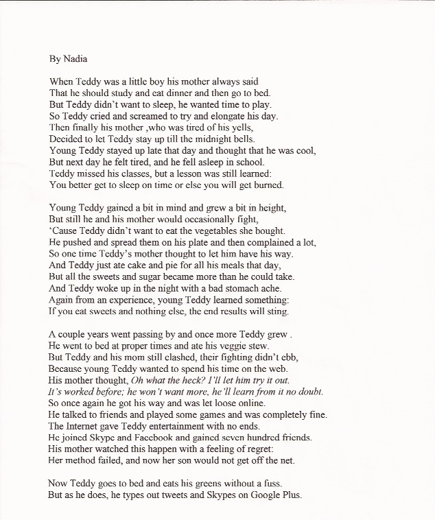 "poem about ballad of the mother s heart Edna st vincent millay's ""the ballad of the harp-weaver"" may appear to be a heart-wrenching the mother's only worries throughout the poem are."